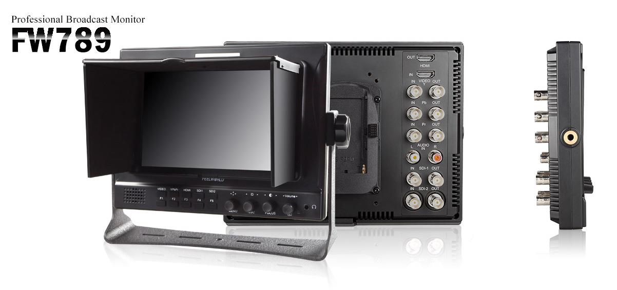 1280-800 Resolution Flashpoint 7 LED Field Monitor 16:9 Aspect Ratio HDMI Input//Output