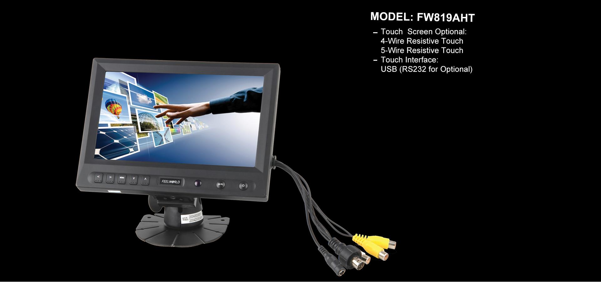 8 800x480 Tft Lcd Touch Monitor With Hdmivgavideoaudiodvi Wiring Fw819aht Is A Inch It Use High Quality New Panel Resolution 300 450cd M Brightness And 70 70l R