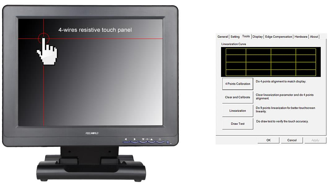 12 1 Quot 800x600 Tft Lcd Touch Screen Usb Powered Monitor
