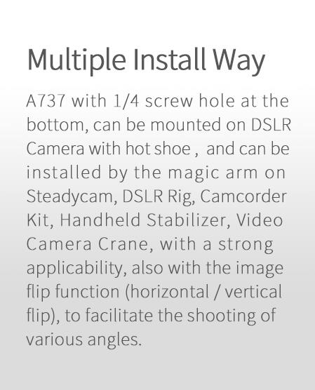 A760 7 inch full hd lcd monitor for steadycam DSLR Rig
