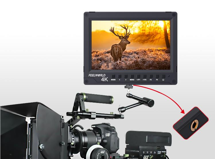7 inch crane arm design on-camera monitor
