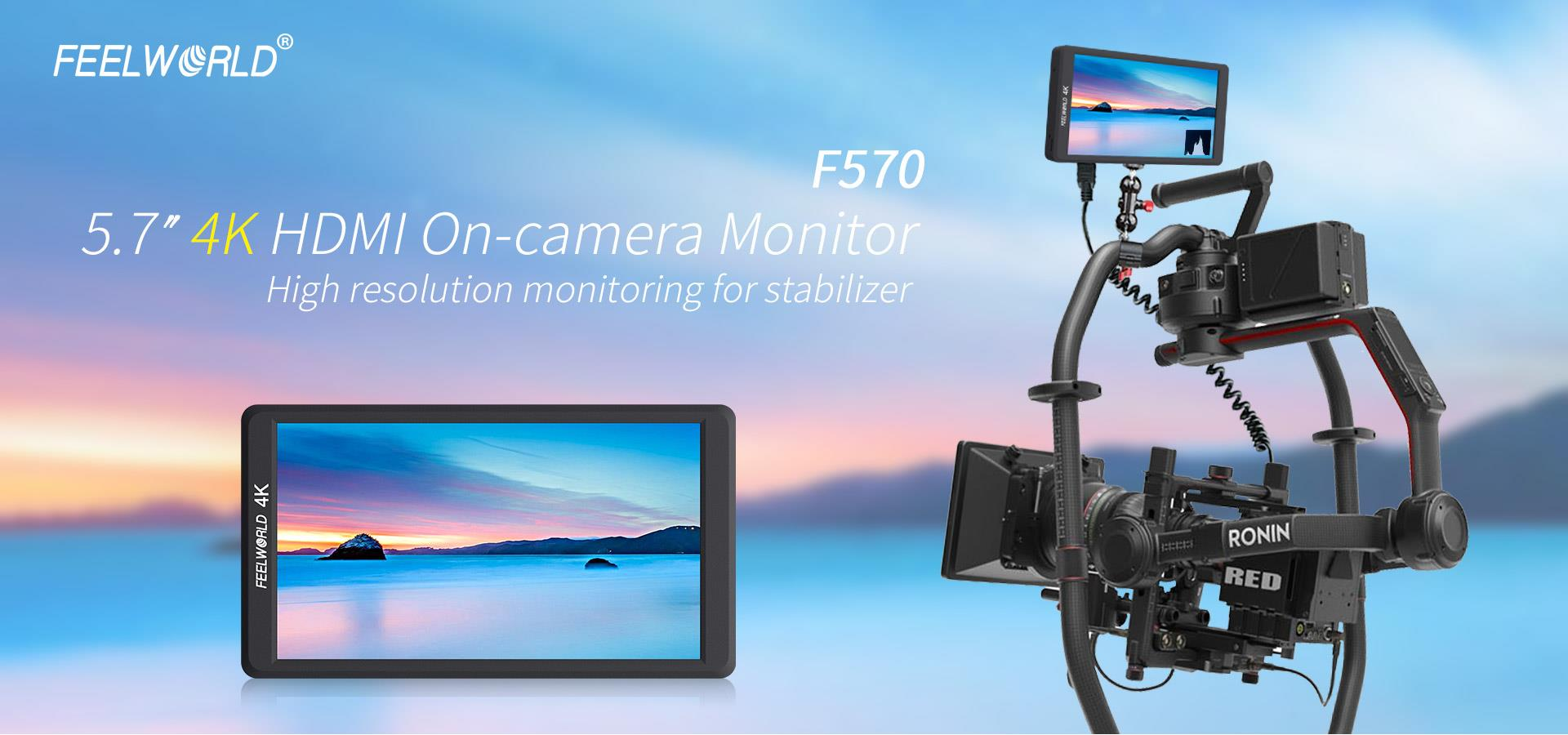 FEELWORLD F570 5.7″ 4K On-camera Monitor with HDMI Input ...
