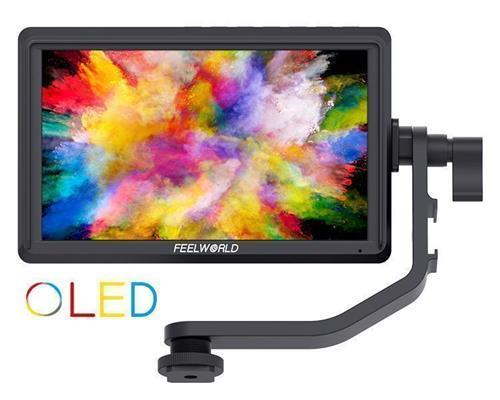 FEELWORLD FW567 5.5 Inch OLED DSLR Camera Field Monitor Support 4K HDMI Input Output Tilt Arm Power Output