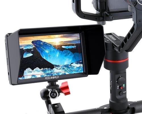 FEELWORLD S55 5.5 Inch DSLR Camera Field Monitor IPS 1280x720 Support 4K HDMI Input Output Tilt Arm Power Output