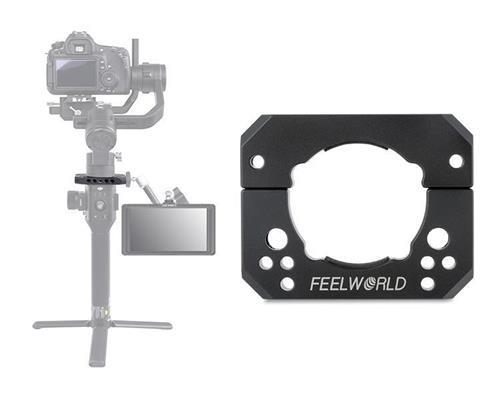 FEEWORLD Ronin-S Accessory Adapter Ring Clamp Mounting Plate for Ronin S Crane 2 Gimbal Stabilizer Mounting Monitor Microphone LED Light