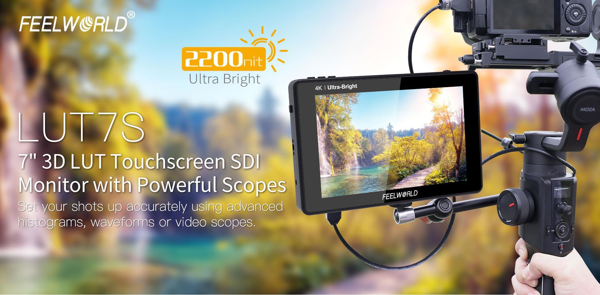 3D-LUT SDI camera field monitor