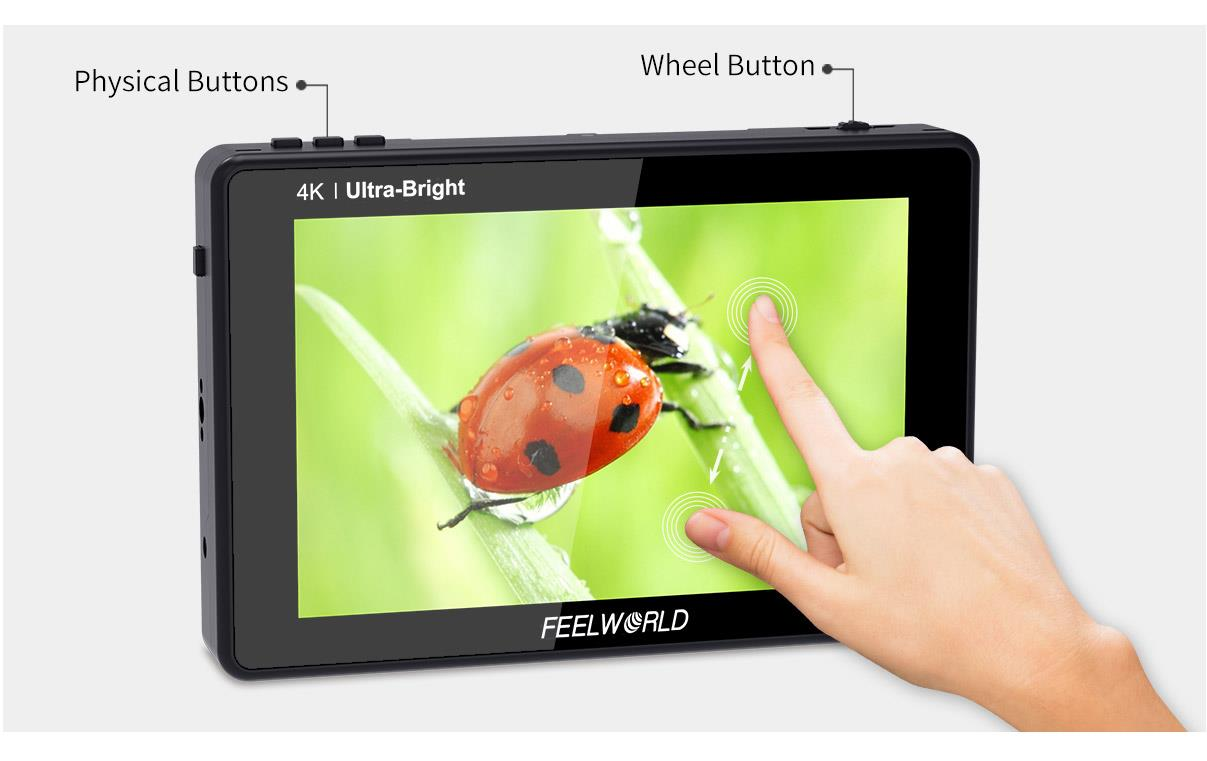 7 inch touchscreen sdi monitor