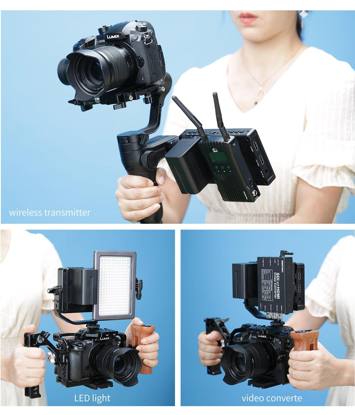 dslr camera stabilizer monitor