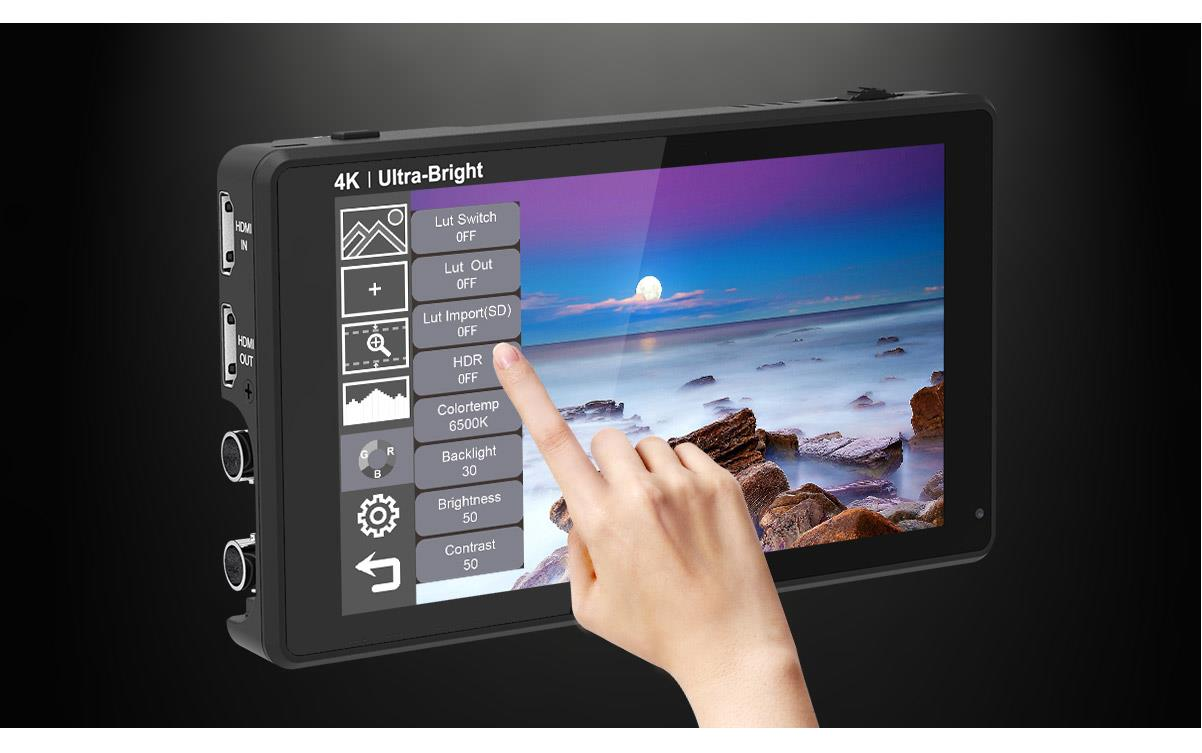camera monitor screen touch