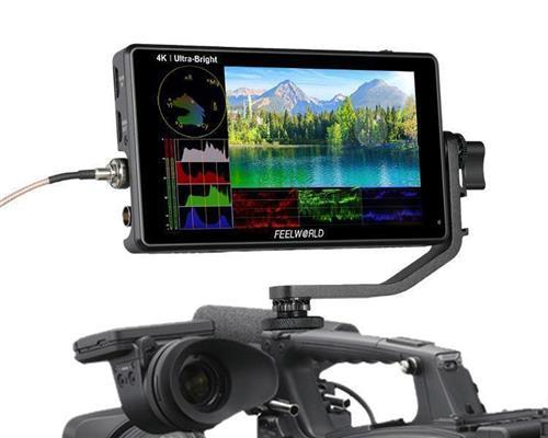 FEELWORLD LUT6S 6 Inch 2600nits HDR/3D LUT Touch Screen DSLR Camera Field Monitor with Waveform VectorScope Histogram 3G-SDI 4K HDMI Input Output 1920X1080 IPS Panel