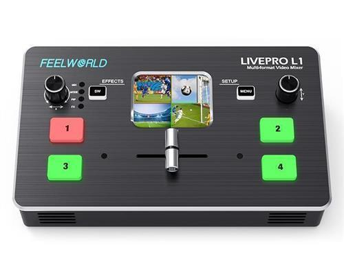 FEELWORLD LIVEPRO L1 Multi-format Video Mixer Switcher 4 x HDMI inputs multi camera production USB3.0 live streaming