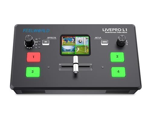 FEELWORLD LIVEPRO L1 V1 Multi-format Video Mixer Switcher 4 x HDMI inputs multi camera production USB3.0 live streaming