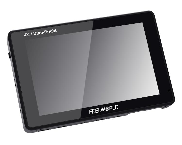 FEELWORLD LUT7 PRO 7 Inch Ultra Bright 2200nits DSLR Camera Field Monitor 3D LUT Touch Screen HDR with Waveform F970 External Power and Install Kit 4K HDMI Input Output 1920X1200 IPS Panel